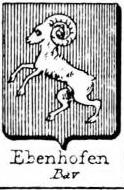 Ebenhofen Coat of Arms / Family Crest 0