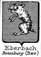 Eberbach Coat of Arms / Family Crest 2