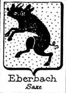 Eberbach Coat of Arms / Family Crest 1