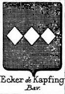 Ecker Coat of Arms / Family Crest 9