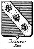 Ecker Coat of Arms / Family Crest 4