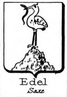 Edel Coat of Arms / Family Crest 1