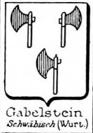 Gabelstein Coat of Arms / Family Crest 1