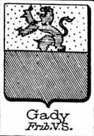 Gady Coat of Arms / Family Crest 1