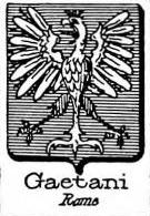Gaetani Coat of Arms / Family Crest 8