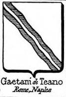 Gaetani Coat of Arms / Family Crest 9