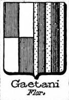 Gaetani Coat of Arms / Family Crest 7