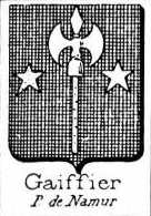 Gaiffier Coat of Arms / Family Crest 0