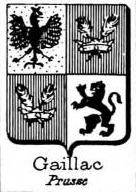 Gaillac Coat of Arms / Family Crest 1