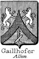 Gaillhofer Coat of Arms / Family Crest 0