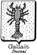 Gallait Coat of Arms / Family Crest 0