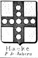 Hacke Coat of Arms / Family Crest 19