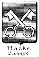 Hacke Coat of Arms / Family Crest 21