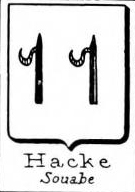 Hacke Coat of Arms / Family Crest 26