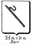 Hacke Coat of Arms / Family Crest 27