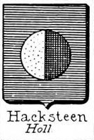 Hacksteen Coat of Arms / Family Crest 0