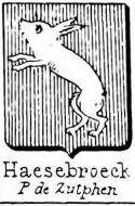 Haesebroeck Coat of Arms / Family Crest 0