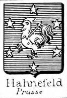 Hahnefeld Coat of Arms / Family Crest 0