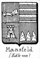 Maasfeld Coat of Arms / Family Crest 0