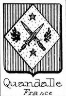 Quandalle Coat of Arms / Family Crest 0