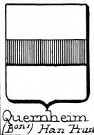 Quernheim Coat of Arms / Family Crest 3