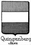 Quingenberg Coat of Arms / Family Crest 1
