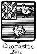 Quoquette Coat of Arms / Family Crest 0