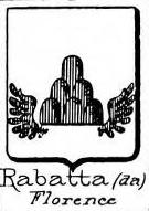 Rabatta Coat of Arms / Family Crest 1