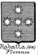 Rabatta Coat of Arms / Family Crest 2