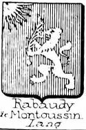 Rabaudy Coat of Arms / Family Crest 1