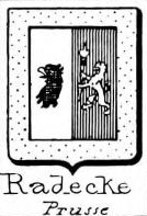 Radecke Coat of Arms / Family Crest 1