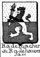 Rademacher Coat of Arms / Family Crest 1