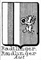 Radtlinger Coat of Arms / Family Crest 0