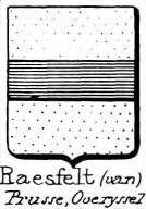 Raesfelt Coat of Arms / Family Crest 0