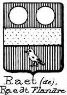 Raet Coat of Arms / Family Crest 3