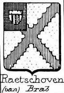 Raetshoven Coat of Arms / Family Crest 1