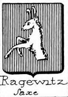 Ragewitz Coat of Arms / Family Crest 1