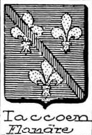 Taccoen Coat of Arms / Family Crest 0