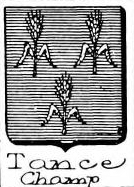 Tance Coat of Arms / Family Crest 0