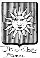 Ubeske Coat of Arms / Family Crest 1