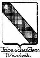 Unbescheiden Coat of Arms / Family Crest 0