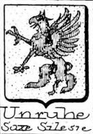 Unruhe Coat of Arms / Family Crest 2