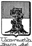 Unwerth Coat of Arms / Family Crest 1
