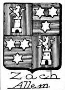 Zach Coat of Arms / Family Crest 2