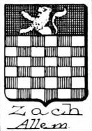 Zach Coat of Arms / Family Crest 1