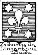 Zachariae Coat of Arms / Family Crest 1