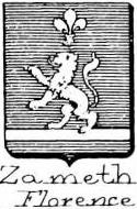 Zamet Coat of Arms / Family Crest 0