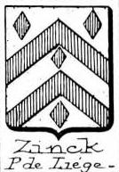 Zinck Coat of Arms / Family Crest 9
