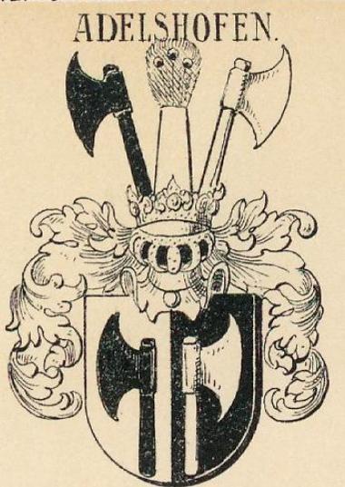 Adelshofen Coat of Arms / Family Crest 1