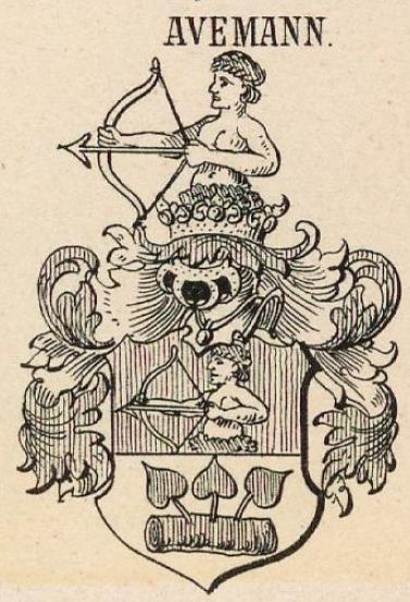 Avemann Coat of Arms / Family Crest 3